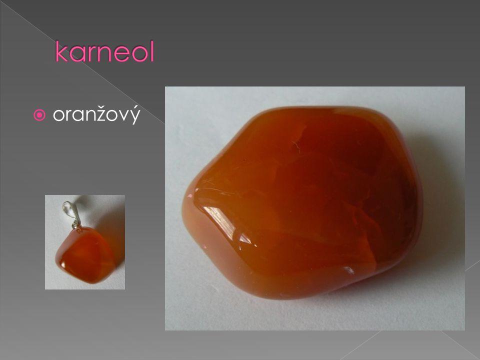 karneol oranžový