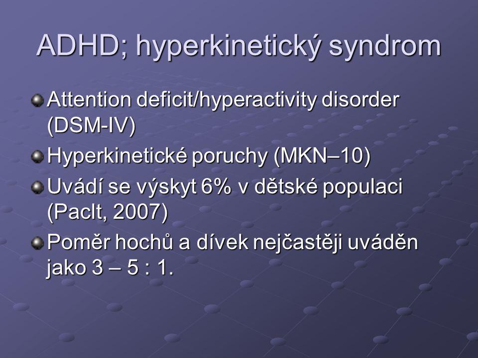 ADHD; hyperkinetický syndrom