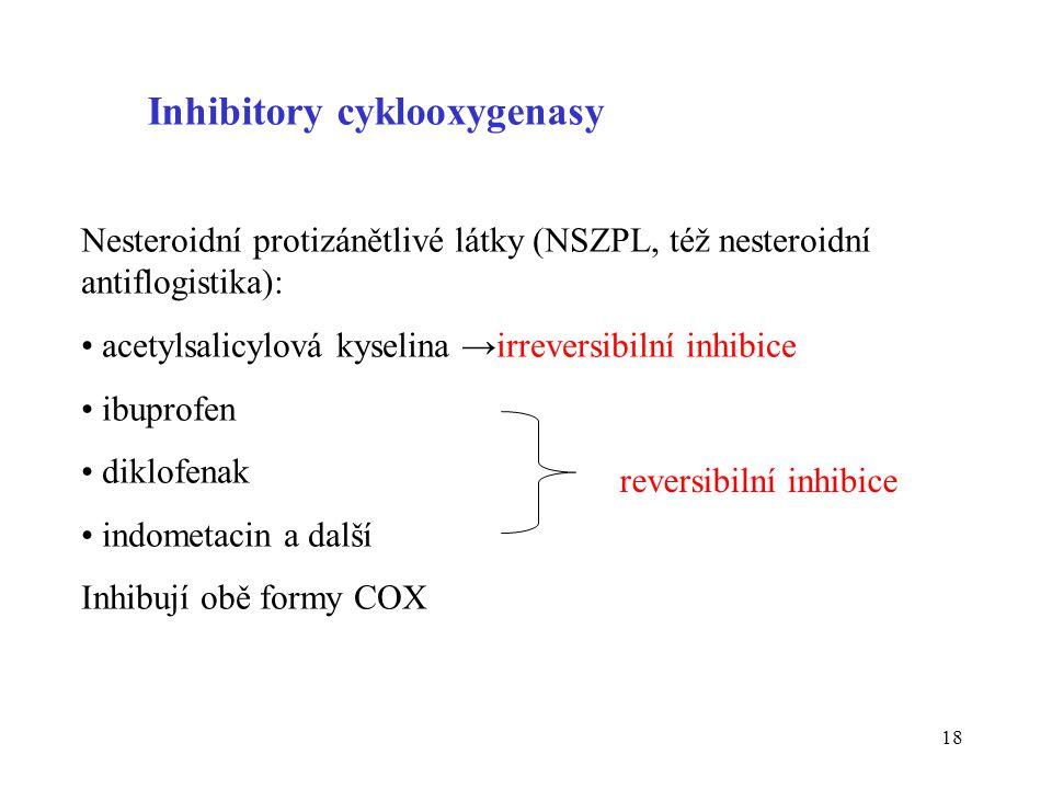 Inhibitory cyklooxygenasy