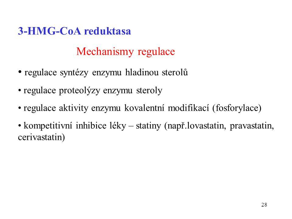 regulace syntézy enzymu hladinou sterolů