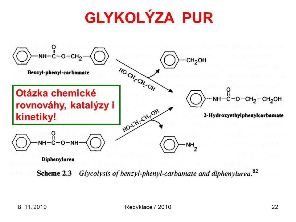 GLYKOLÝZA PUR Otázka chemické rovnováhy, katalýzy i kinetiky!