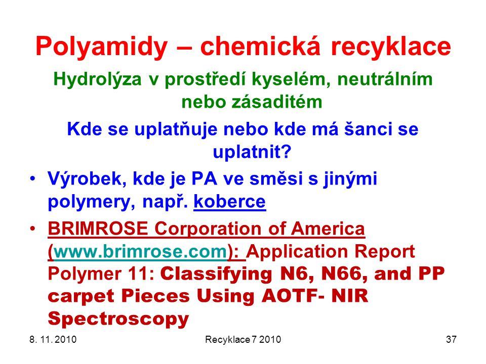 Polyamidy – chemická recyklace