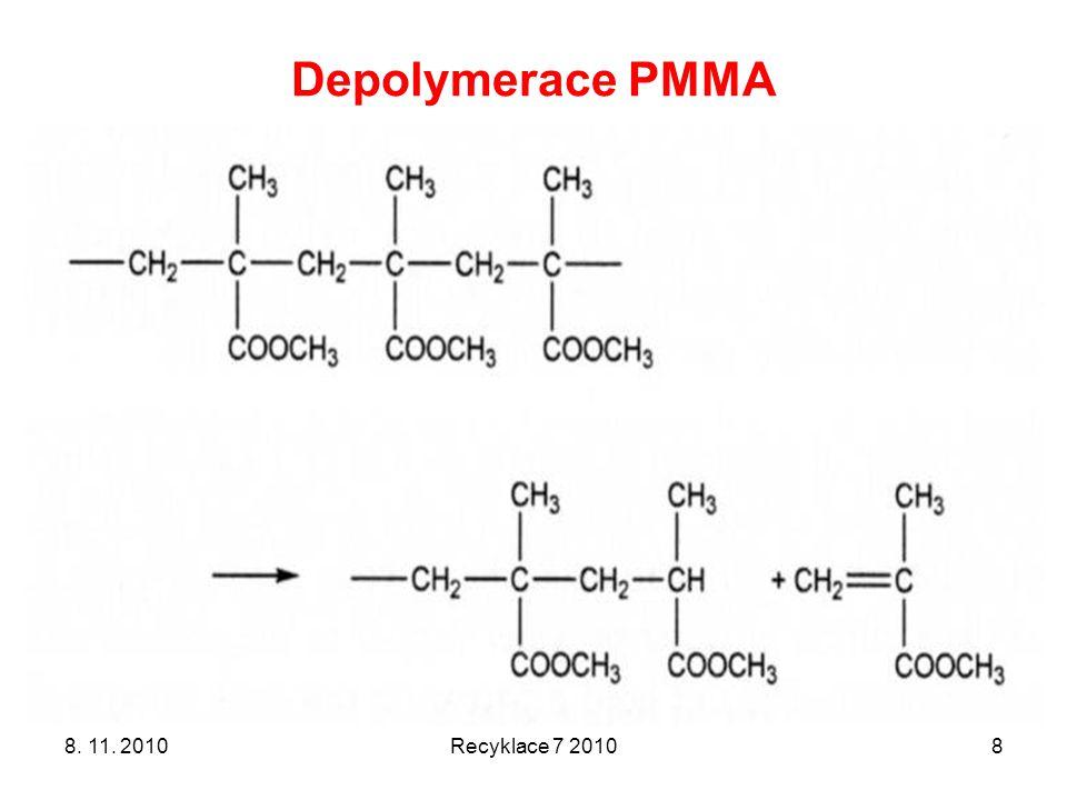 Depolymerace PMMA 8. 11. 2010 Recyklace 7 2010