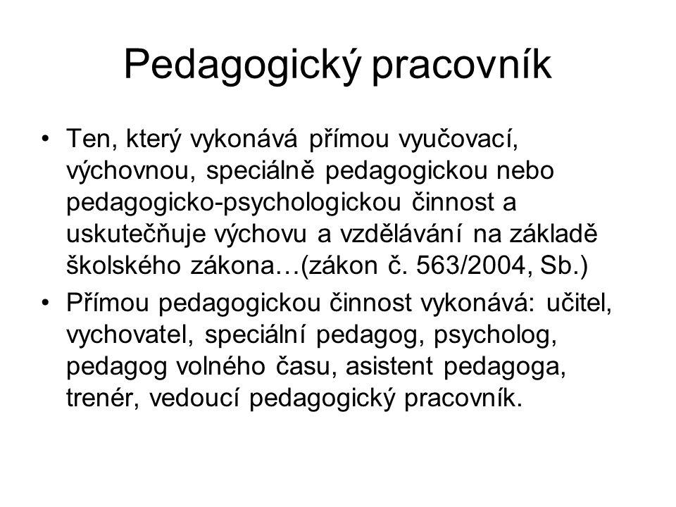 Pedagogický pracovník