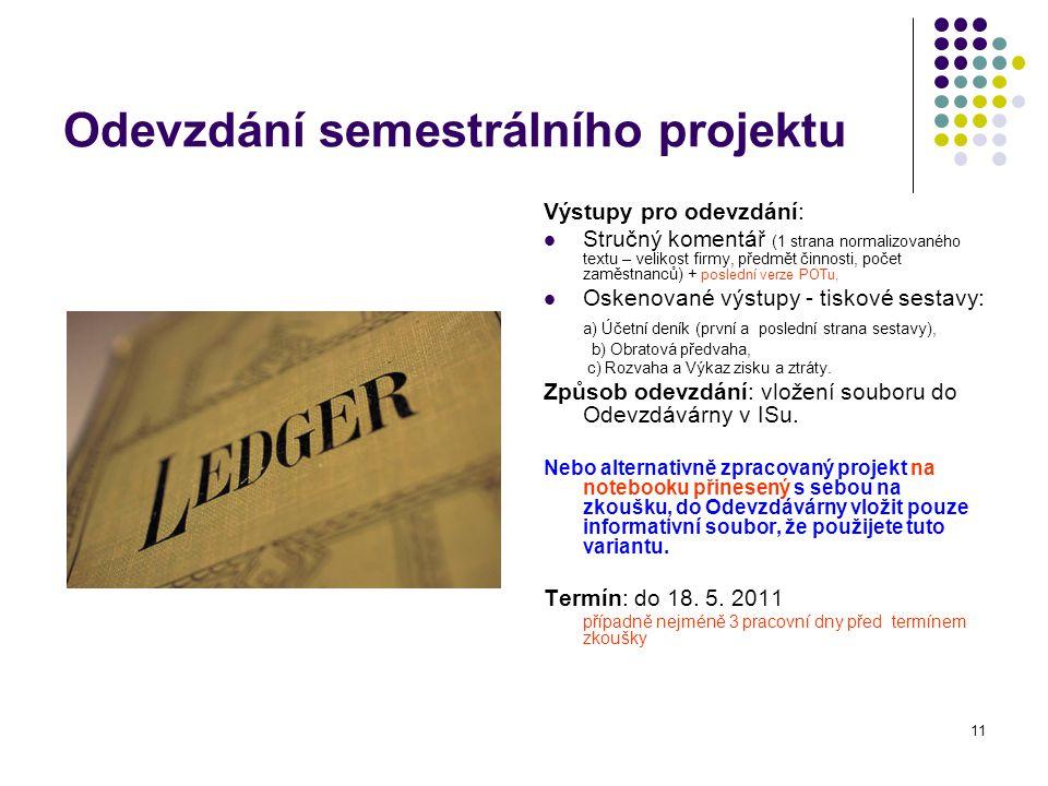 Odevzdání semestrálního projektu