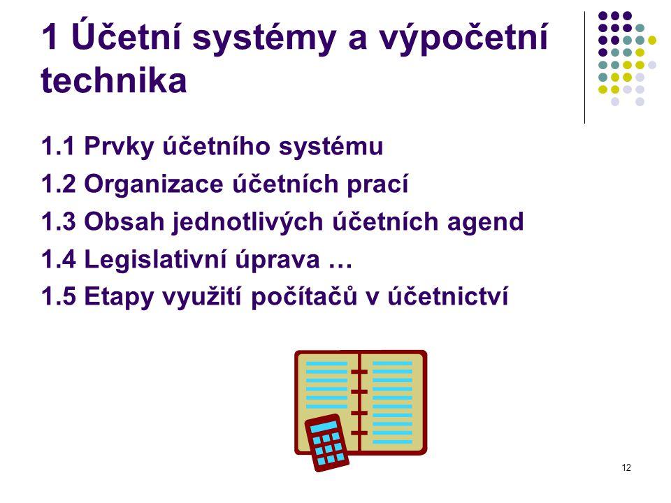 1 Účetní systémy a výpočetní technika