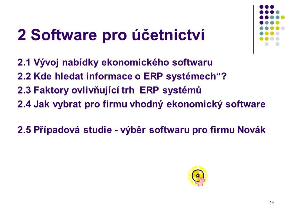 2 Software pro účetnictví