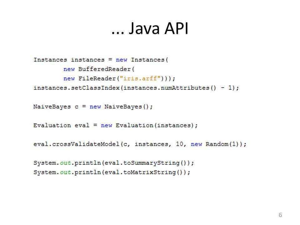 ... Java API