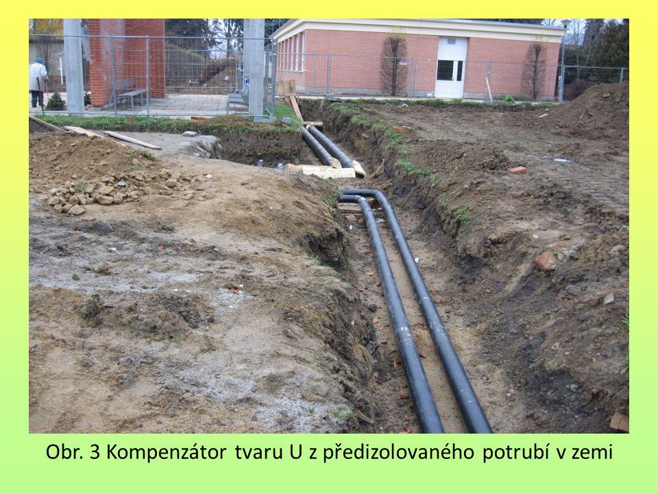 Obr. 3 Kompenzátor tvaru U z předizolovaného potrubí v zemi