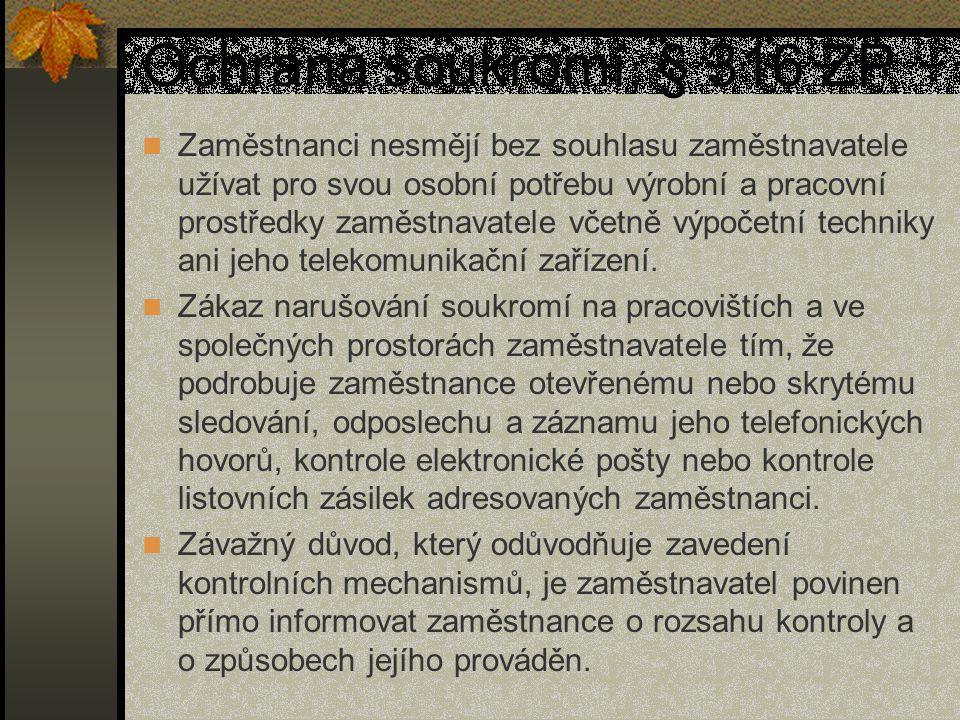 Ochrana soukromí, § 316 ZP