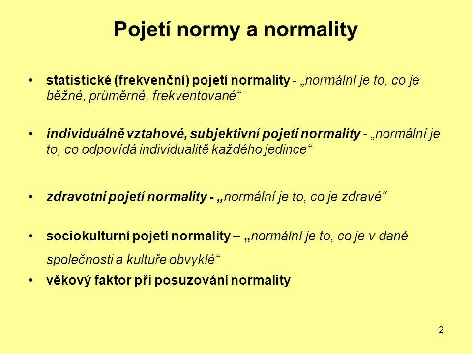 Pojetí normy a normality