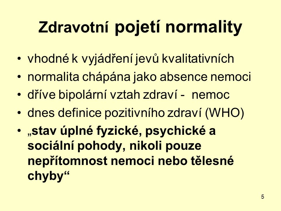Zdravotní pojetí normality