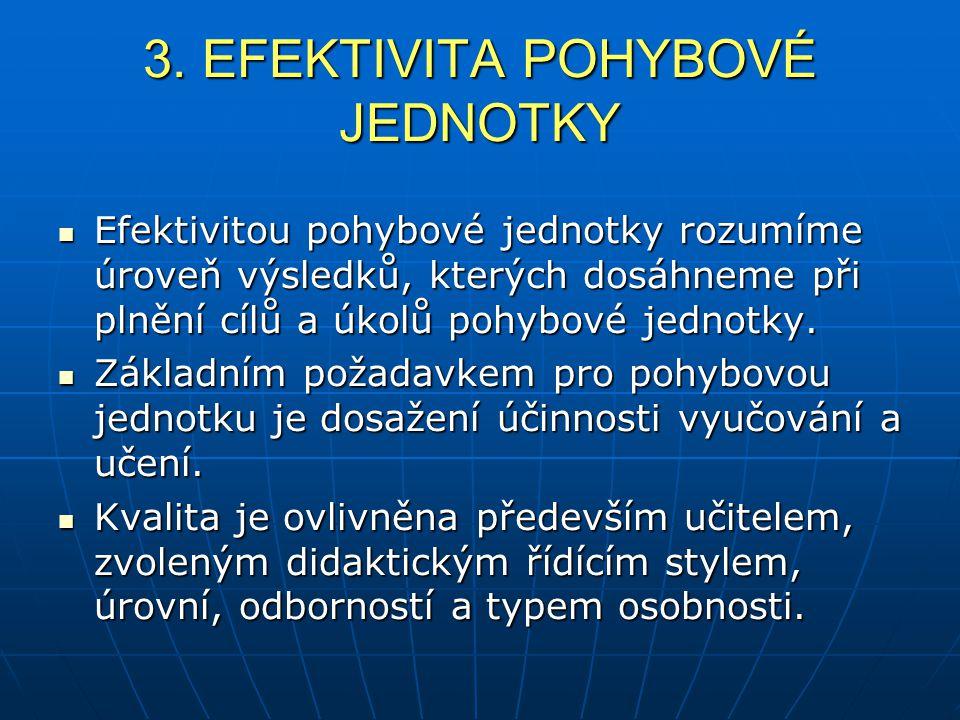 3. EFEKTIVITA POHYBOVÉ JEDNOTKY