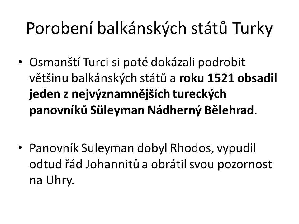 Porobení balkánských států Turky