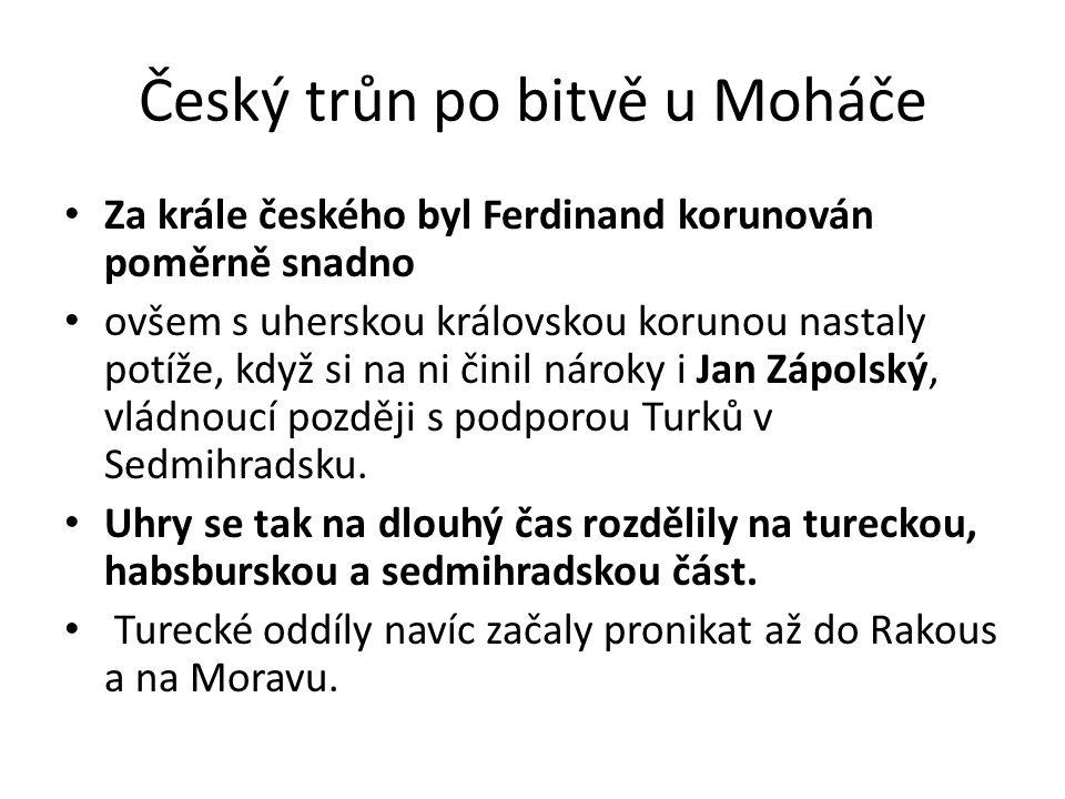 Český trůn po bitvě u Moháče