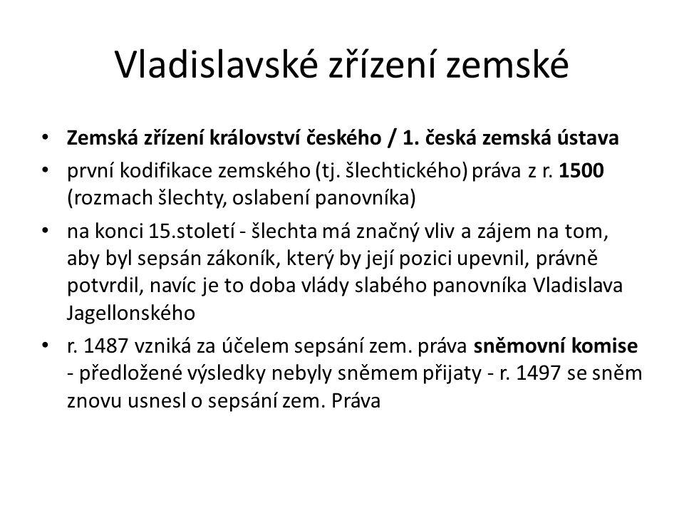 Vladislavské zřízení zemské
