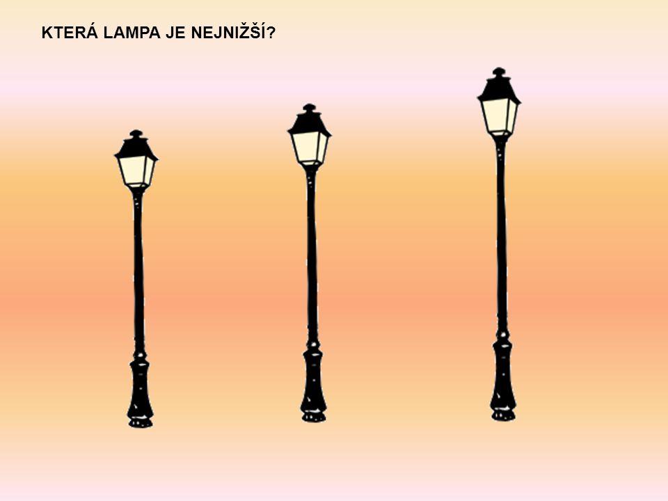 KTERÁ LAMPA JE NEJNIŽŠÍ