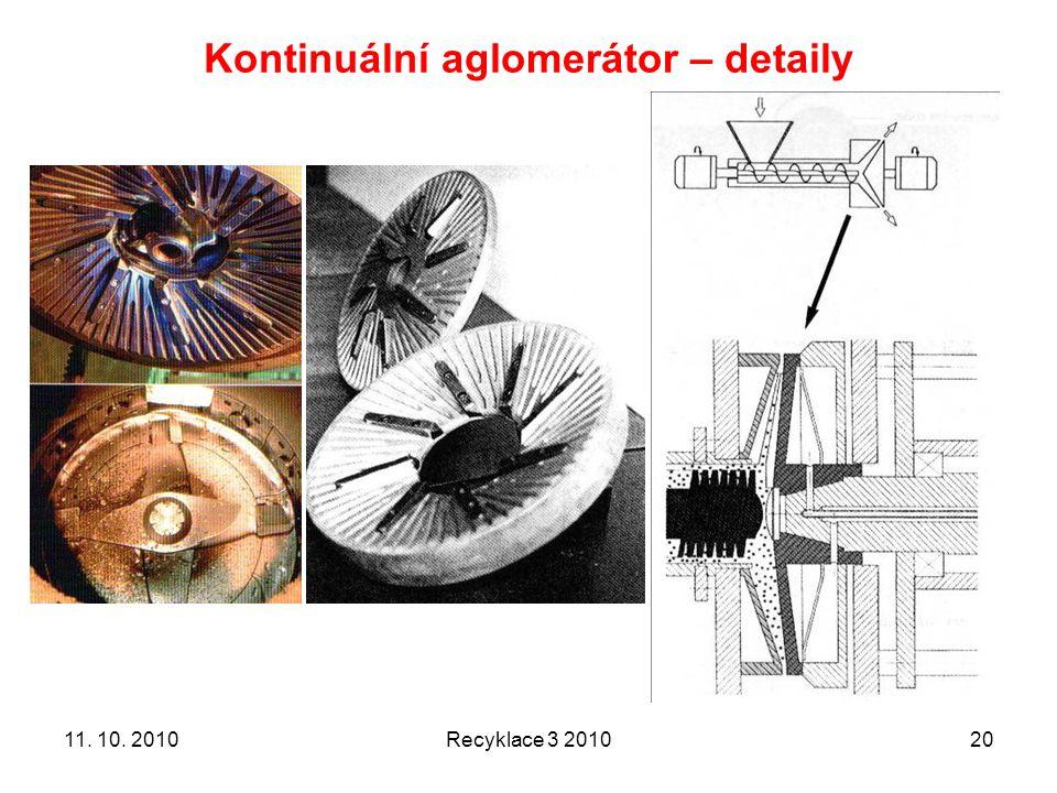 Kontinuální aglomerátor – detaily