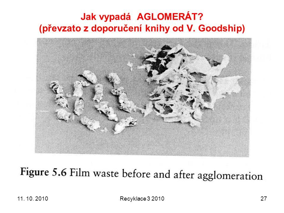 Jak vypadá AGLOMERÁT (převzato z doporučení knihy od V. Goodship)