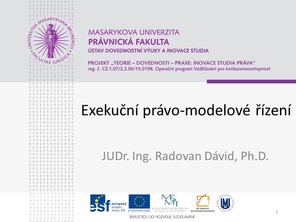 Exekuční právo-modelové řízení