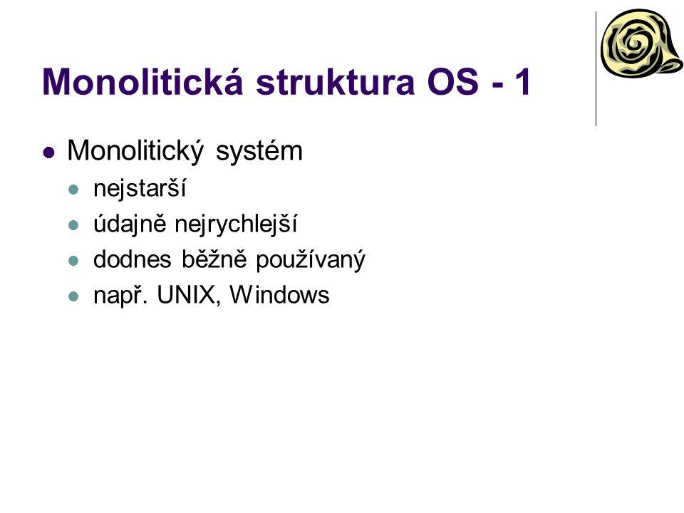 Monolitická struktura OS - 1