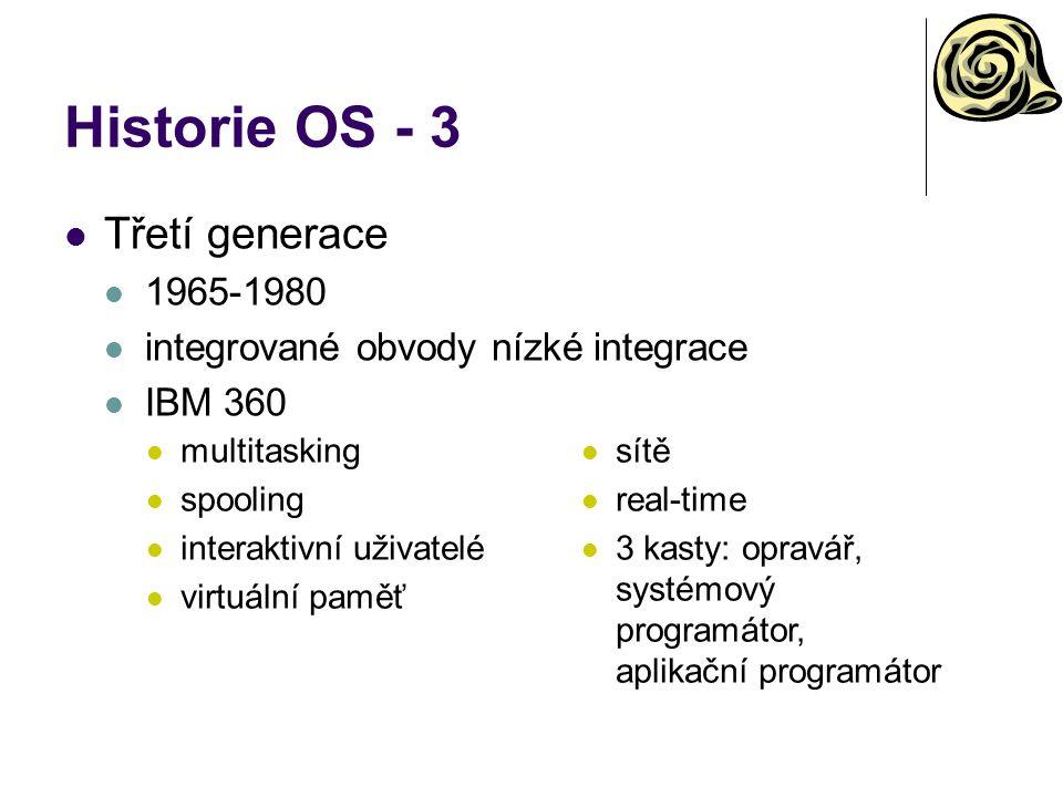 Historie OS - 3 Třetí generace 1965-1980