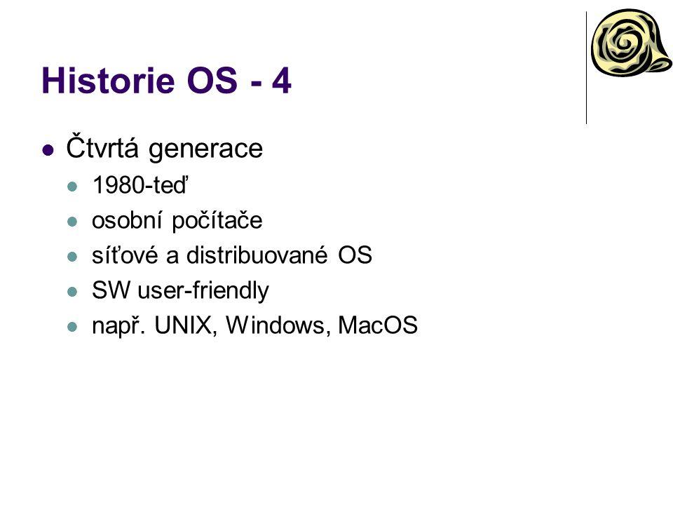Historie OS - 4 Čtvrtá generace 1980-teď osobní počítače