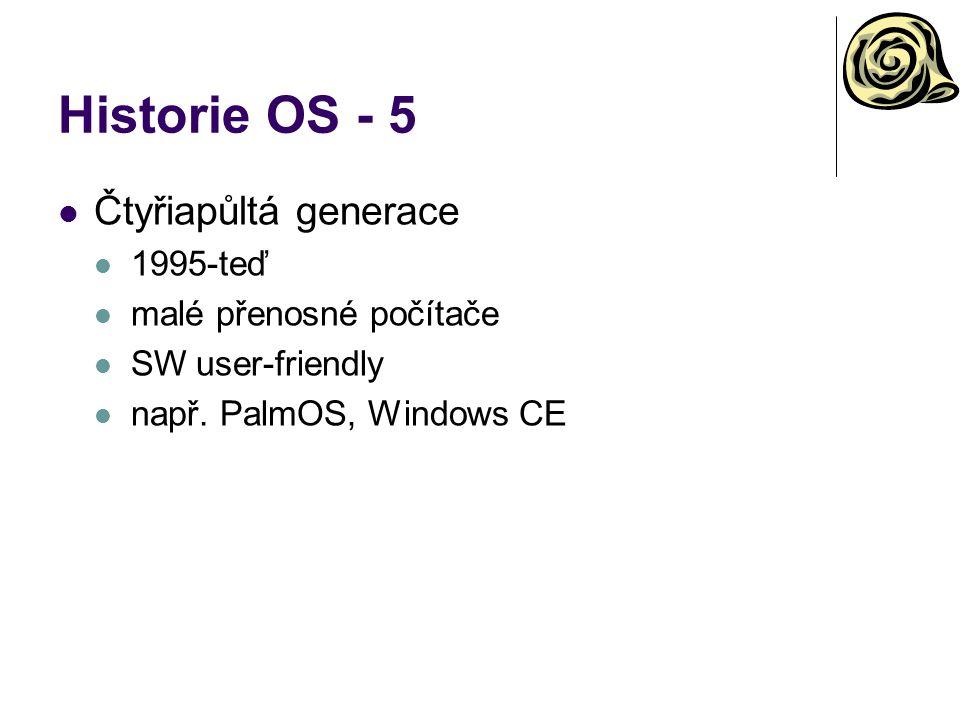 Historie OS - 5 Čtyřiapůltá generace 1995-teď malé přenosné počítače