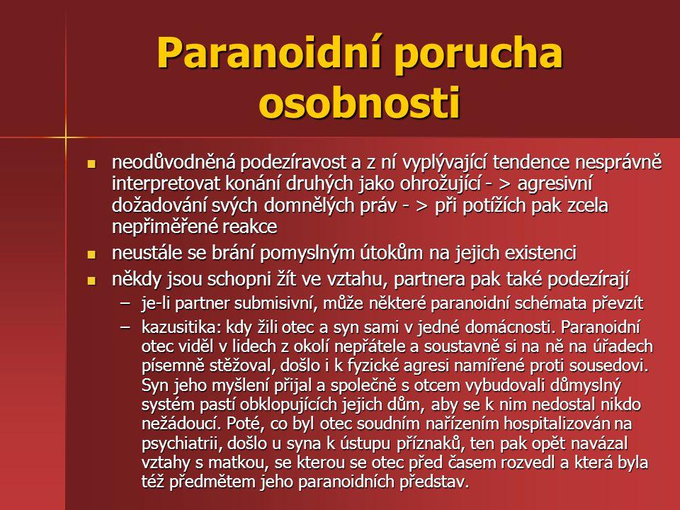 Paranoidní porucha osobnosti