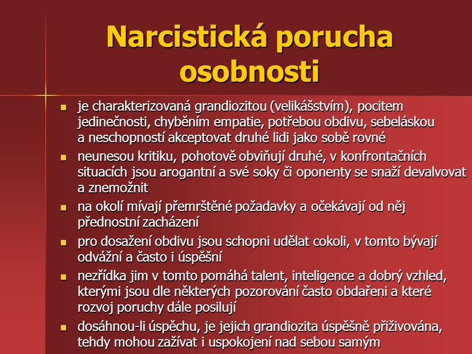 Narcistická porucha osobnosti