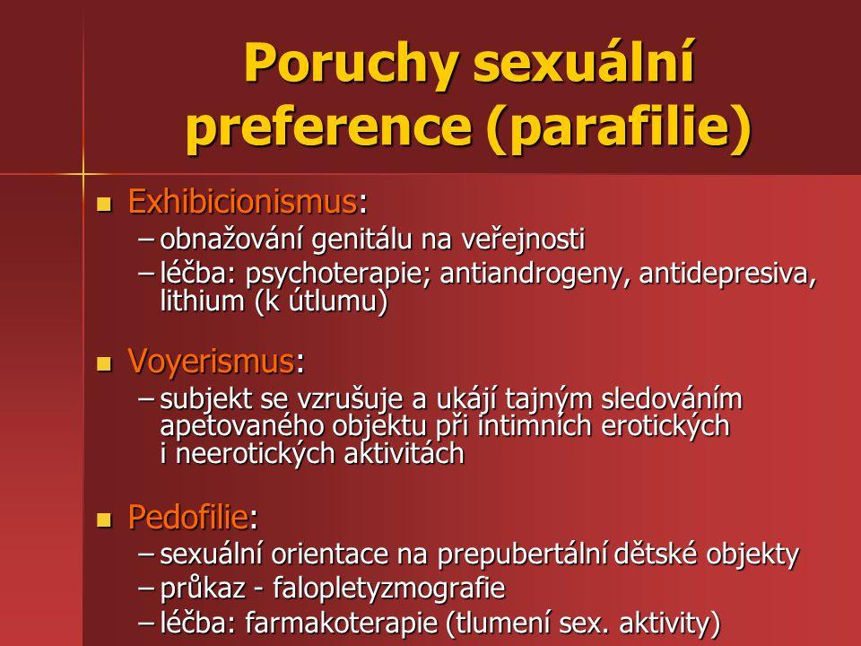 Poruchy sexuální preference (parafilie)