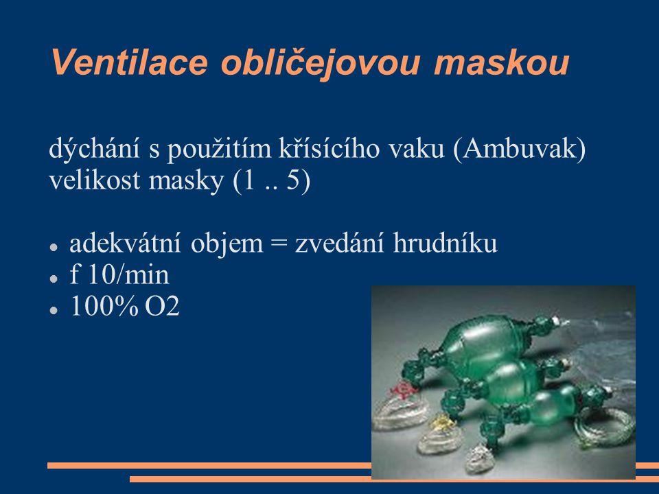 Ventilace obličejovou maskou