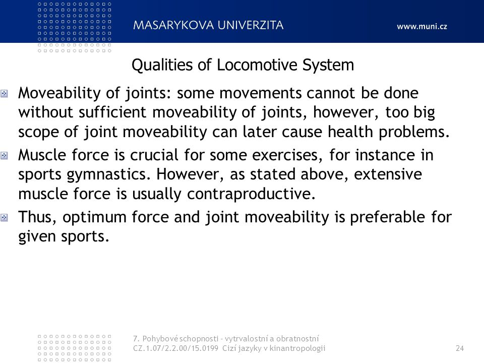 Qualities of Locomotive System