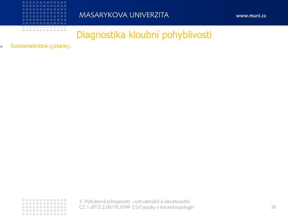 Diagnostika kloubní pohyblivosti