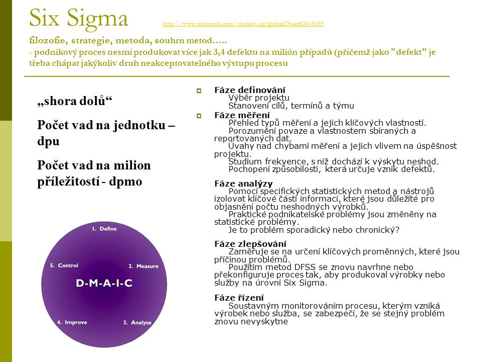 Six Sigma http://www. motorola. com/content. jsp