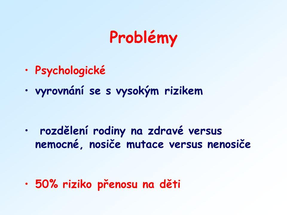 Problémy Psychologické vyrovnání se s vysokým rizikem