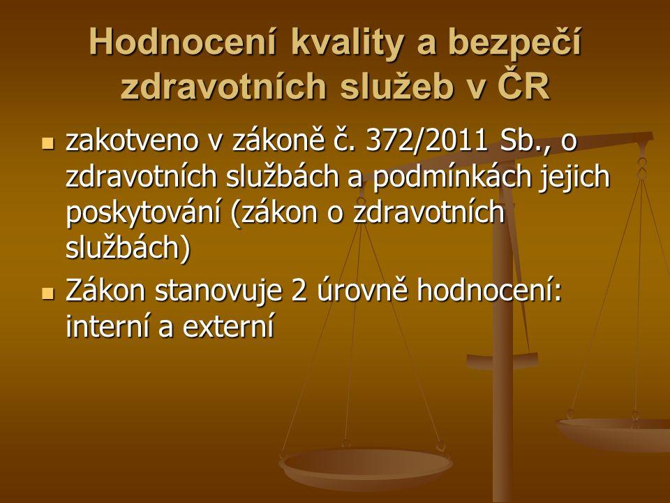 Hodnocení kvality a bezpečí zdravotních služeb v ČR
