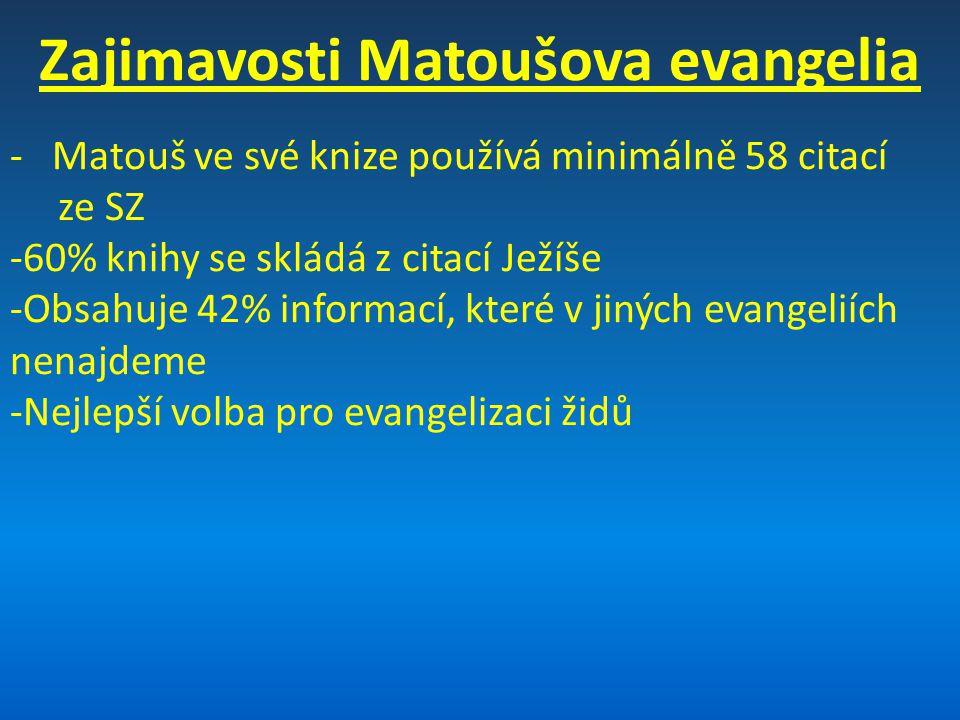 Zajimavosti Matoušova evangelia