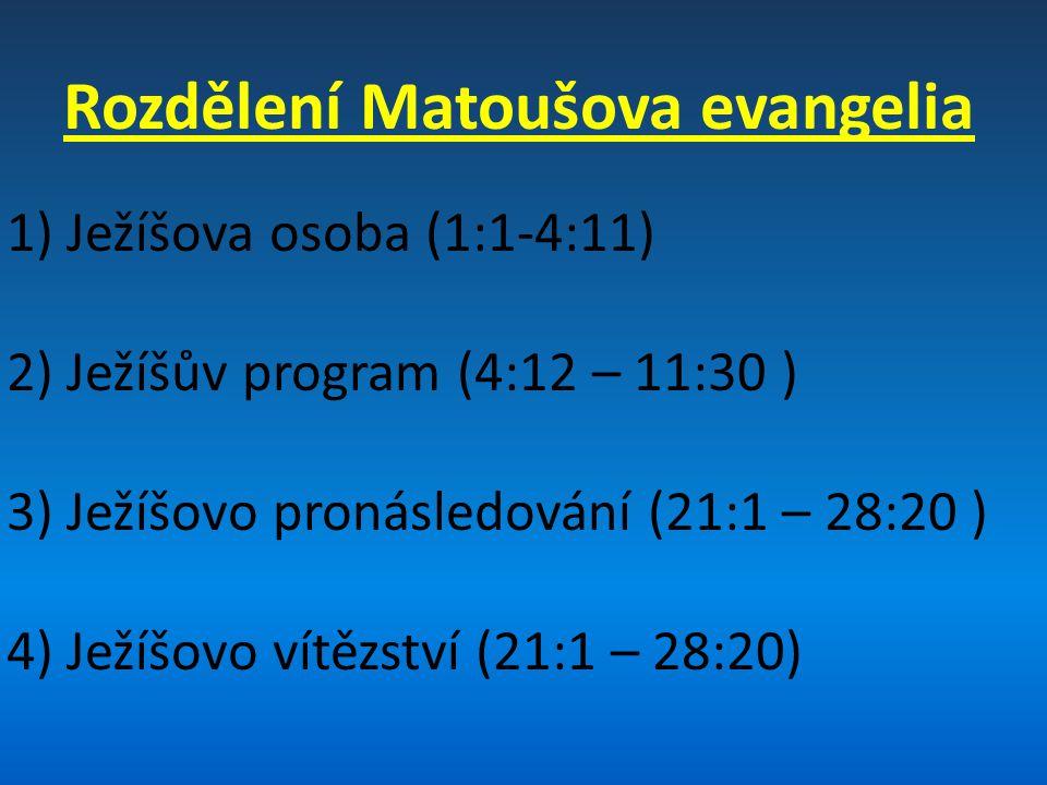 Rozdělení Matoušova evangelia