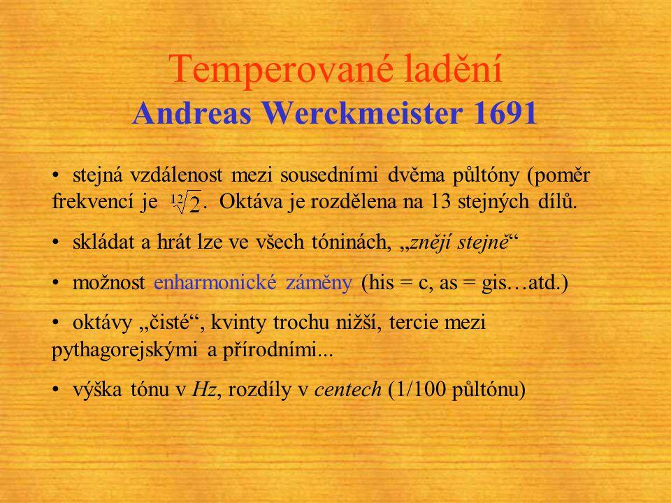 Temperované ladění Andreas Werckmeister 1691