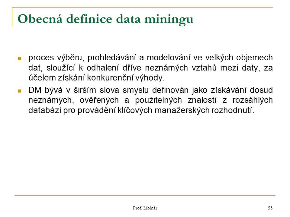 Obecná definice data miningu