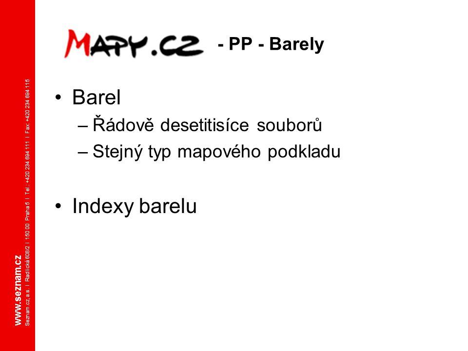 Barel Indexy barelu - PP - Barely Řádově desetitisíce souborů