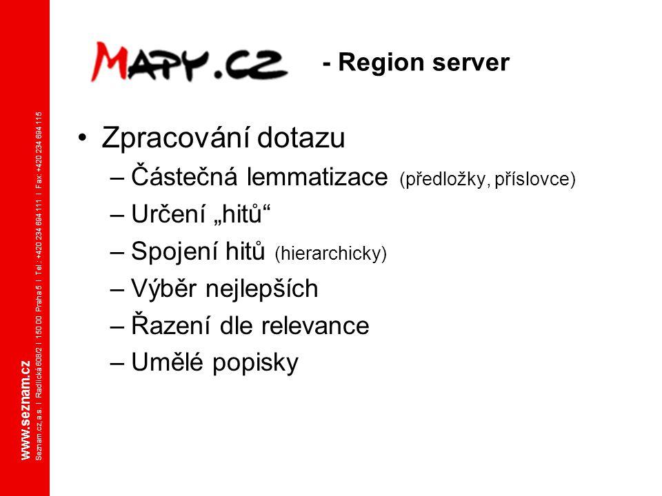 Zpracování dotazu - Region server
