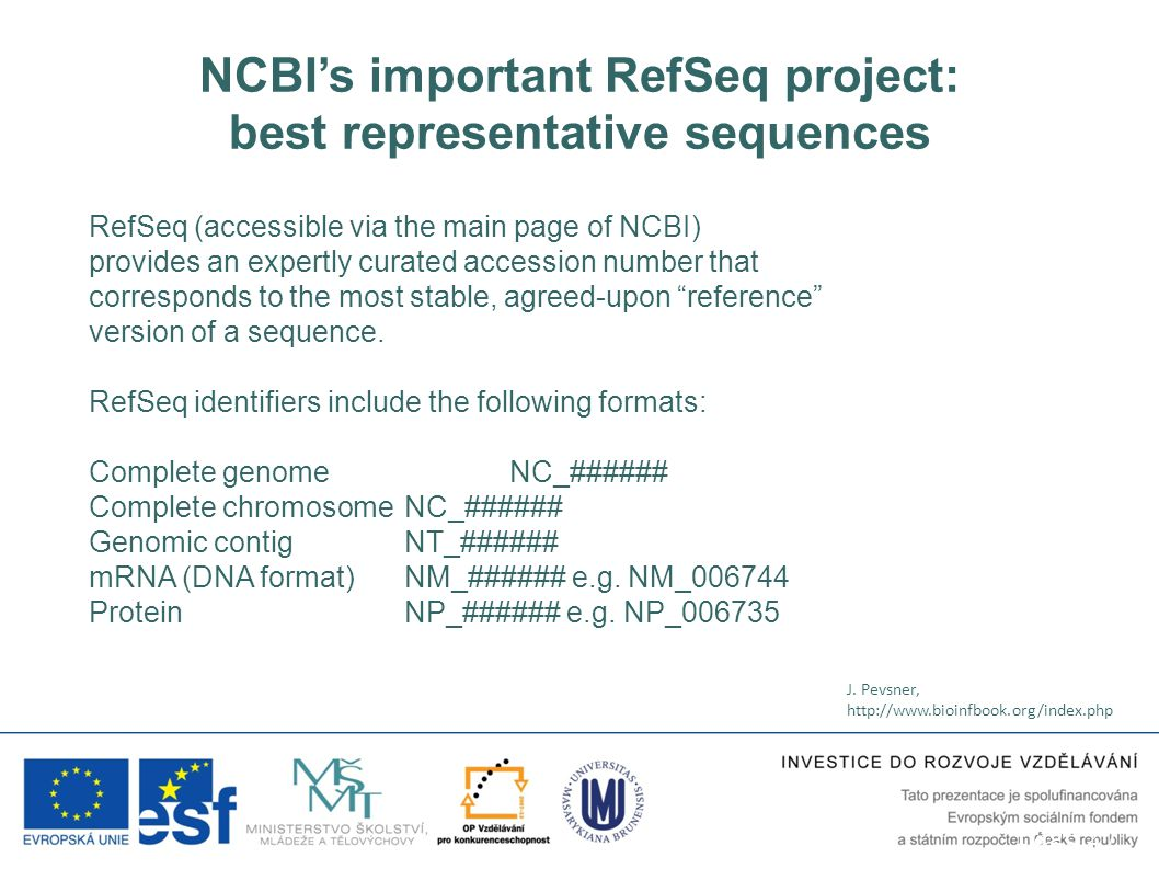 NCBI's important RefSeq project: best representative sequences