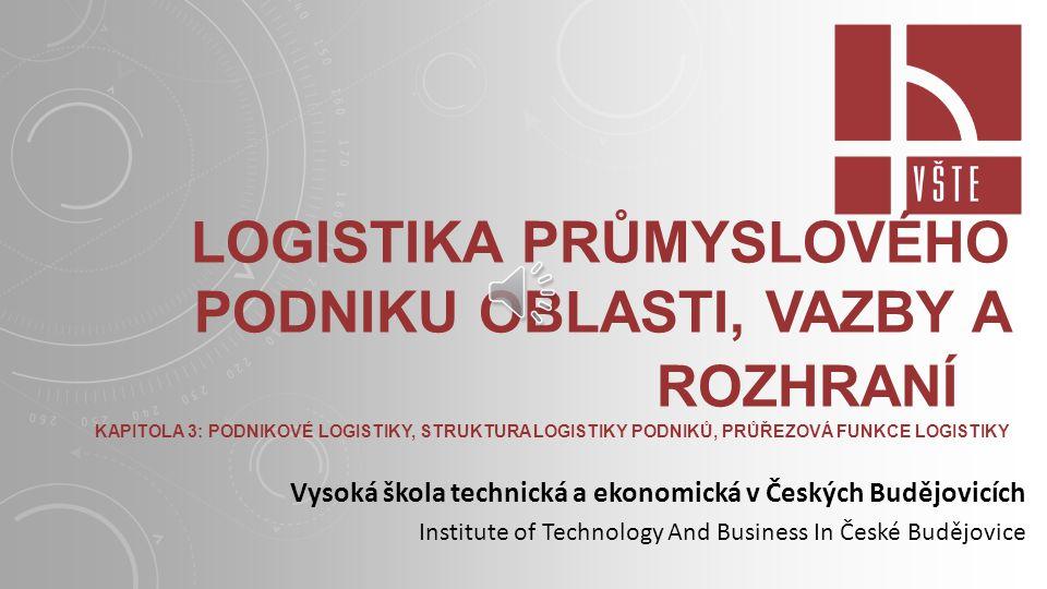 Logistika průmyslového podniku Oblasti, vazby a rozhraní
