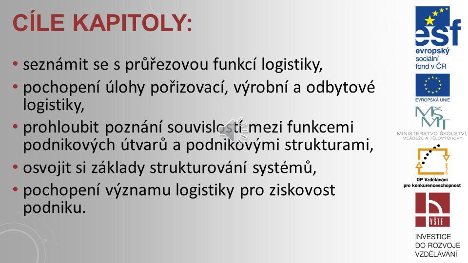 Cíle kapitoly: seznámit se s průřezovou funkcí logistiky,