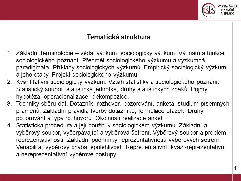 Tematická struktura