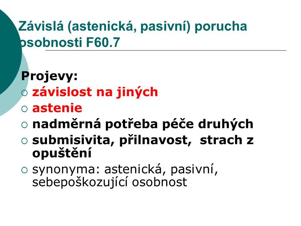 Závislá (astenická, pasivní) porucha osobnosti F60.7