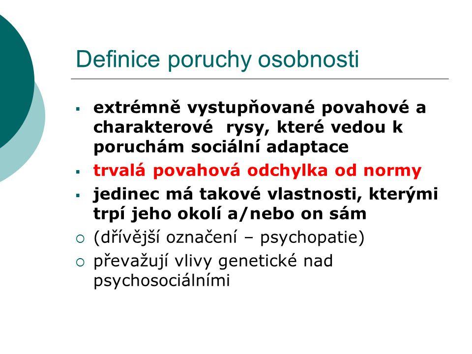 Definice poruchy osobnosti