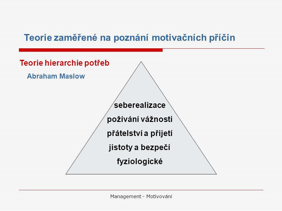 Management - Motivování